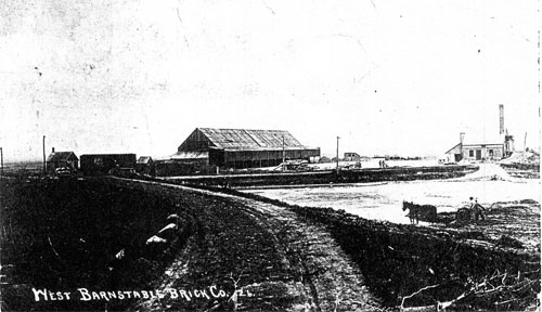 West Barnstable Brick Company in the late 1800s